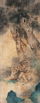 Xuyang lions traditional China Oil Paintings
