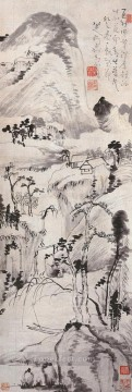 bada shanren landscape juran style traditional Chinese Oil Paintings