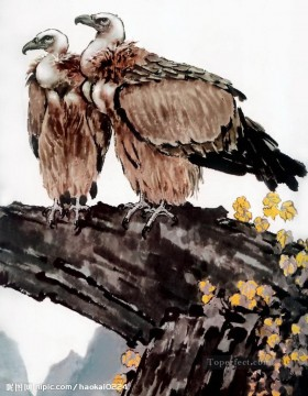 Chinese Painting - eagles on branch traditional Chinese