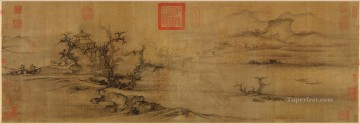 old trees level distance 1080 guo xi traditional Chinese Oil Paintings