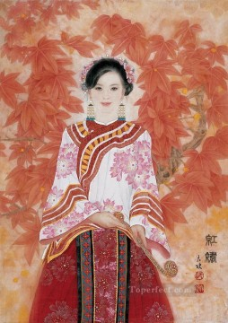 Leaves Art Painting - red leaves traditional Chinese