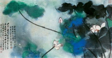 China Oil Painting - Chang dai chien lotus 30 traditional China