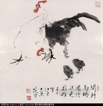 China Oil Painting - Fangzeng fowls traditional China