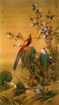 Lang shining birds in Spring traditional China Oil Paintings