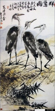 Li kuchan birds traditional China Oil Paintings