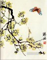 Qi Baishi butterfly and flowering plu traditional China
