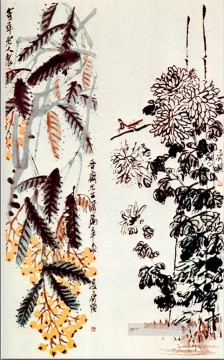 Traditional Chinese Art Painting - Qi Baishi chrysanthemum and loquat traditional China