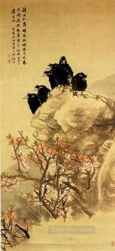China Oil Painting - Renyin birds traditional China