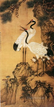 China Oil Painting - Shenquan cranes traditional China