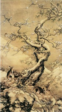 Shenquan hare in snow traditional China Oil Paintings