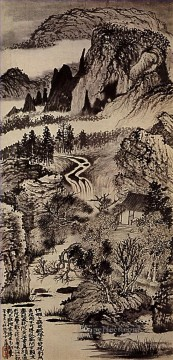 Chinese Painting - Shitao jinting mountains in autumn 1707 traditional China