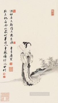 Maid Works - Tang yin maiden triptich old Chinese