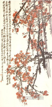Wu cangshuo plum old Chinese Oil Paintings