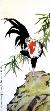 Xu Beihong a cock old Chinese Oil Paintings