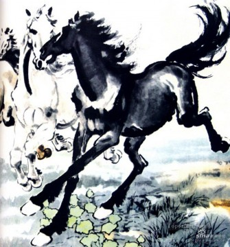 horse racing Painting - Xu Beihong horses old Chinese