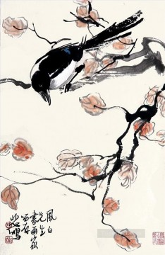 Branch Painting - Xu Beihong pie on branch old Chinese