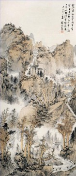 Xuyang mountain landscape old Chinese Oil Paintings