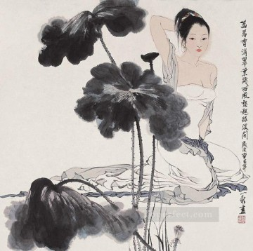Chinese Painting - Zhou Yixin 2 old Chinese