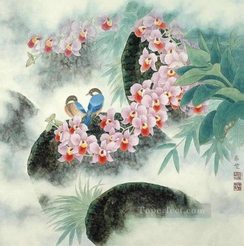 Chinese Painting - birds in flowers traditional China