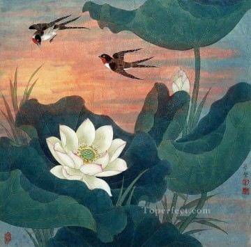 China Art Painting - birds in sunset traditional China