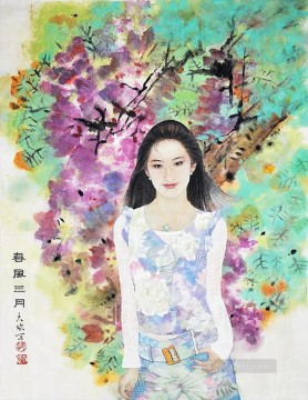 China Oil Painting - modern girl traditional China