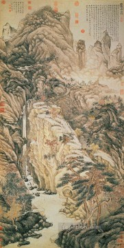 shen zhou lofty mount lu 1467 traditional China Oil Paintings