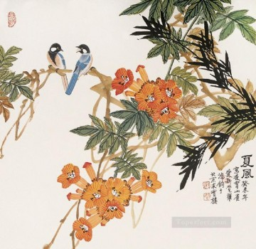 two birds old Chinese Oil Paintings