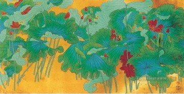 Chinese Painting - Chang dai chien lotus 28 2 old Chinese