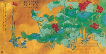 Chinese Painting - Chang dai chien lotus 28 old Chinese