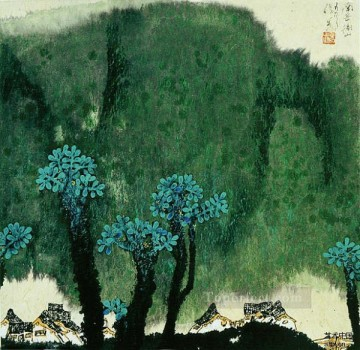 Chinese village Oil Paintings