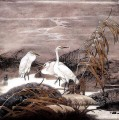 Egret in autumn old Chinese