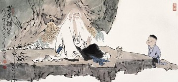 Traditional Chinese Art Painting - Fangzeng talking old Chinese