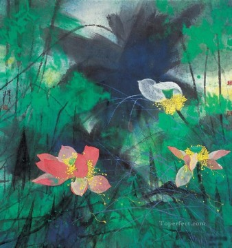 He Yunpu waterlilies pond old Chinese Oil Paintings