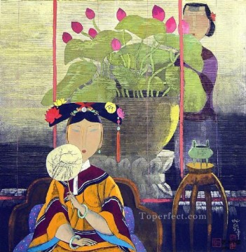 Chinese Art - Hu yongkai Chinese lady 12