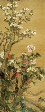 Humei affluence birds and flowers old Chinese Oil Paintings