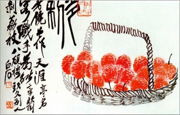 Qi Baishi lychee fruit old Chinese Oil Paintings