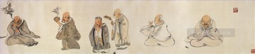 Chinese Painting - Wu cangshuo eighteen archats antique Chinese