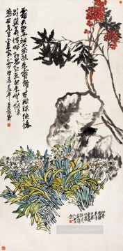 Wu cangshuo green antique Chinese Oil Paintings