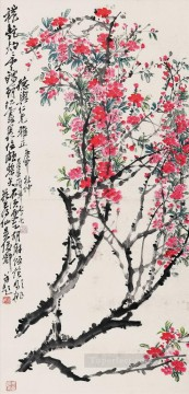 antique Canvas - Wu cangshuo peachblossom antique Chinese