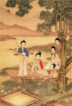 antique Canvas - Xiong bingzhen maiden antique Chinese