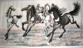 Xu Beihong running horses 2 antique Chinese
