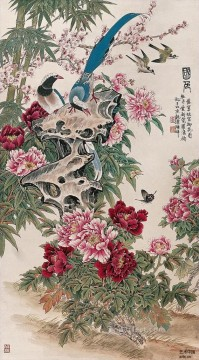 birds and butterfly old Chinese Oil Paintings