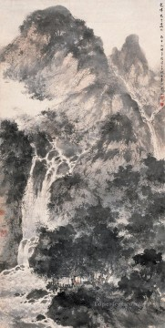 gathering in mountains 1956 Fu Baoshi traditional Chinese Oil Paintings