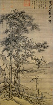 Traditional Chinese Art Painting - wintry forest level distance Li Cheng traditional Chinese