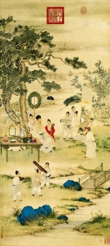 antique Canvas - Lang shining watch painting antique Chinese