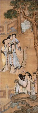 antique Canvas - Xiong bingzhen women antique Chinese