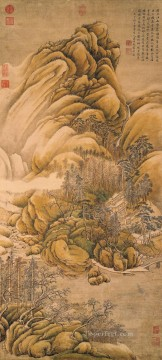 clearing of rivers and mountains after snow Wang Wei traditional Chinese Oil Paintings