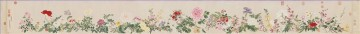 antique Canvas - Qian weicheng flowers antique Chinese