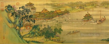 antique Canvas - Zhang zeduan Qingming Riverside Seene part 1 antique Chinese