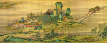 Zhang zeduan Qingming Riverside Seene part 2 antique Chinese Oil Paintings